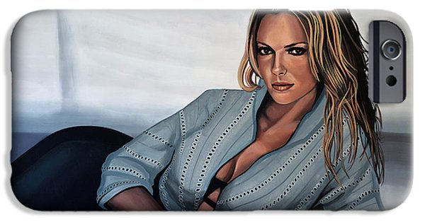 New Years iPhone Cases - Katherine Heigl iPhone Case by Paul Meijering