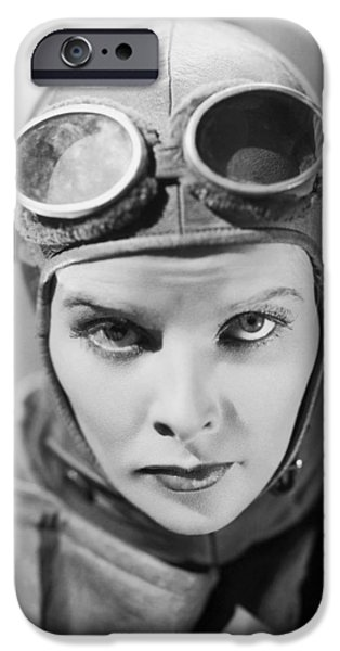 1950s Movies Photographs iPhone Cases - Katherine Hepburn Portrait iPhone Case by Nomad Art And  Design