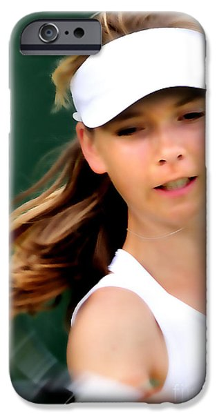 Wimbledon Photographs iPhone Cases - Katie Boulter 2 iPhone Case by Phil Robinson