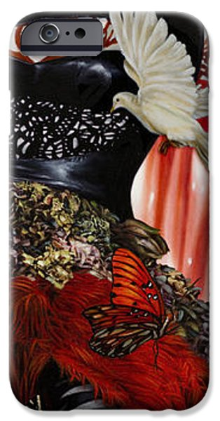 Blue Angel iPhone Cases - Katrina the Unforseen iPhone Case by Vic Lee