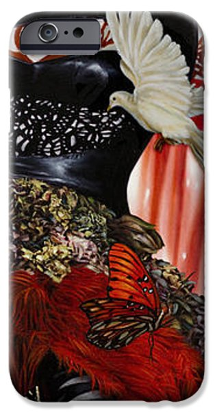 Angel Blues iPhone Cases - Katrina the Unforseen iPhone Case by Vic Lee