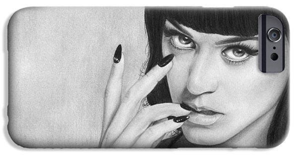 Katy Perry iPhone Cases - Katy Perry 001 iPhone Case by Mandy Boss