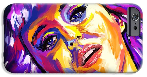 Katy Perry Paintings iPhone Cases - Katy Perry 01 iPhone Case by Tim Gilliland