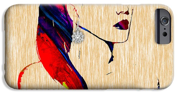 Katy Perry iPhone Cases - Katy Perry Collection iPhone Case by Marvin Blaine