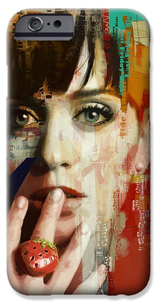 Celebrities Art iPhone Cases - Katy Perry iPhone Case by Corporate Art Task Force