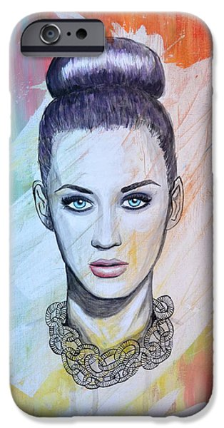 Katy Perry iPhone Cases - Katy Perry iPhone Case by Ruth Oosterman