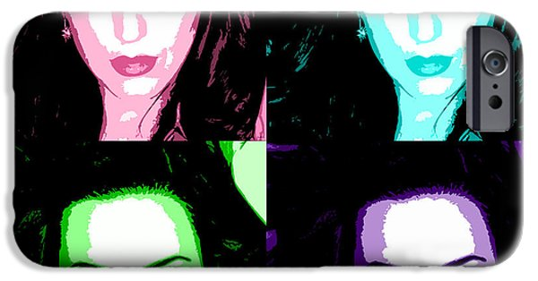 Katy Perry iPhone Cases - Katy Perry Warhol by GBS iPhone Case by Anibal Diaz