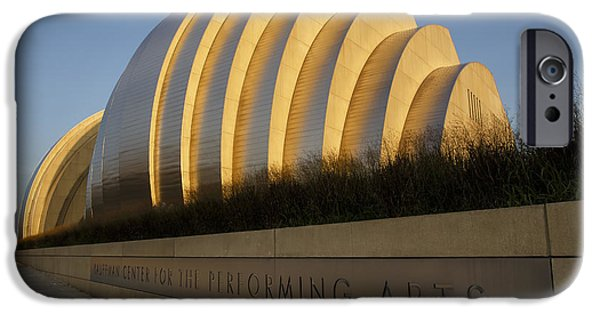 Symphony Hall iPhone Cases - Kauffman Center for Performing Arts iPhone Case by Dennis Hedberg