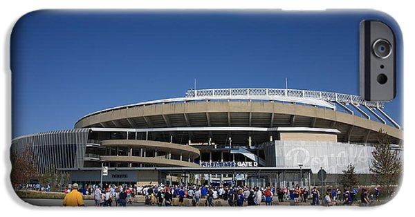 Royal Family Arts iPhone Cases - Kauffman Stadium - Kansas City Royals iPhone Case by Frank Romeo