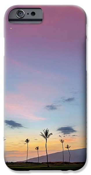 Village By The Sea iPhone Cases - Kauhale Makai Sunset iPhone Case by Pierre Leclerc Photography