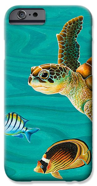 Kauila Sea Turtle iPhone Case by Emily Brantley