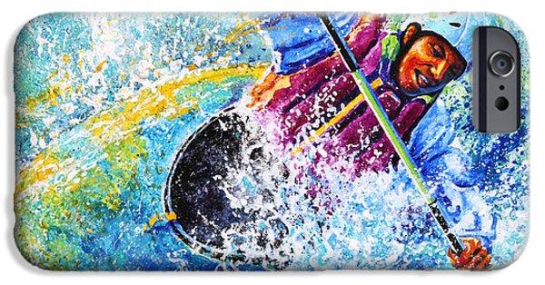 Sport Artist iPhone Cases - Kayak Crush iPhone Case by Hanne Lore Koehler