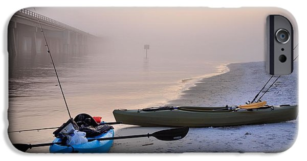 Kayak iPhone Cases - Kayak Destin iPhone Case by JC Findley