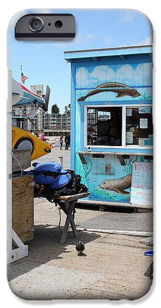 Kayak Rentals On The Municipal Wharf At Santa Cruz Beach Boardwalk California 5D23787 iPhone Case by Wingsdomain Art and Photography