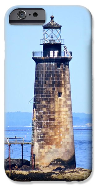 Kayaking By Ram Island  iPhone Case by Nancy Patterson