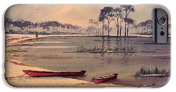 Exploring Paintings iPhone Cases - Kayaking In Florida iPhone Case by Bill Holkham