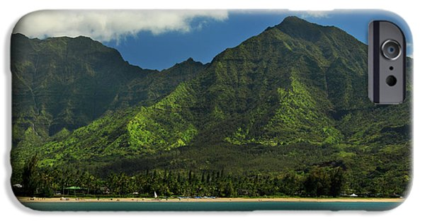 Kayak iPhone Cases - Kayaks In Hanalei Bay iPhone Case by James Eddy