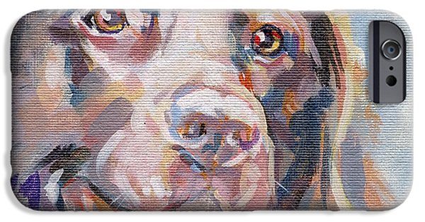 Chocolate Lab iPhone Cases - Kayla iPhone Case by Kimberly Santini