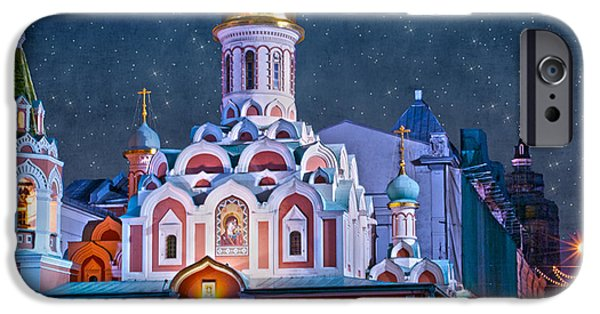 Moscow iPhone Cases - KAZAN CATHEDRAL. Red Square. Moscow Russia iPhone Case by Juli Scalzi