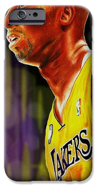 Kobe Mixed Media iPhone Cases - Kb Forever iPhone Case by Freddie Simpkins