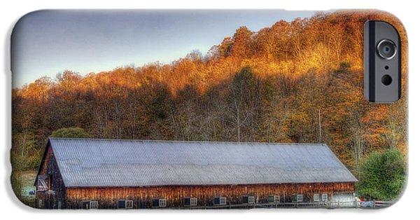 Autumn Scenes iPhone Cases - Kedron Valley Farm - Woodstock VT iPhone Case by Joann Vitali