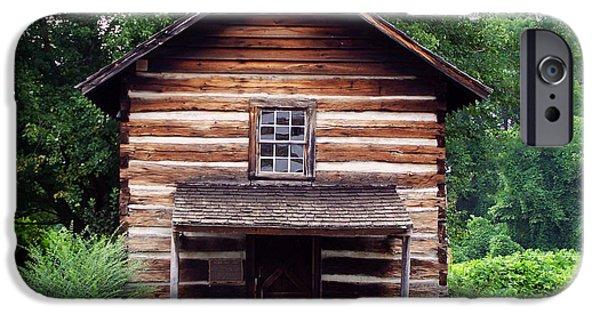 Log Cabin Digital iPhone Cases - Keener Craft cabin iPhone Case by Chris Flees