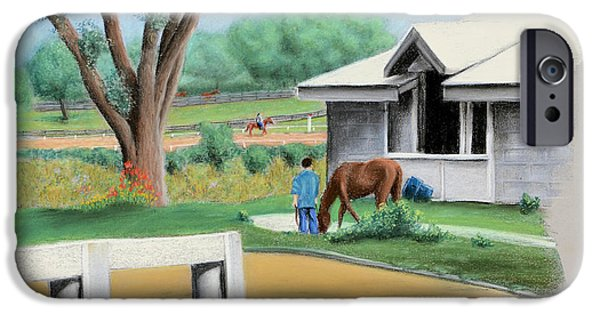 Keeneland iPhone Cases - Keenland Paddock iPhone Case by Sam Johnson