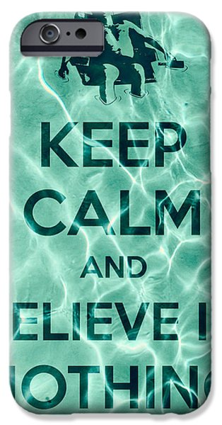 Red Hot Chili Peppers iPhone Cases - Keep Calm And Believe In Nothing iPhone Case by Filippo B