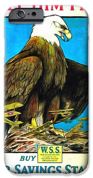 World War One Paintings iPhone Cases - Keep Him Free iPhone Case by US Army WW 1 Recruiting Poster