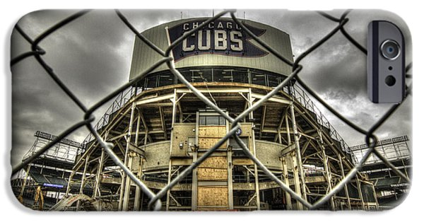 Chicago Cubs iPhone Cases - Keep Out iPhone Case by Greg Thiemeyer
