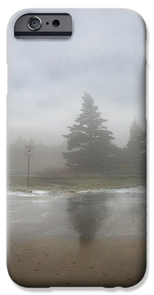 Maine Landscape iPhone Cases - Keep Right iPhone Case by Juli Scalzi