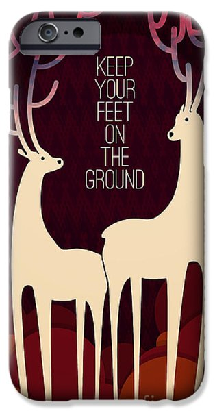 Wisdom iPhone Cases - Keep your feet on the ground iPhone Case by Budi Kwan