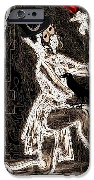 Dance Ballet Roses iPhone Cases - Keeper of the Crow Love Never Dies iPhone Case by Tisha McGee