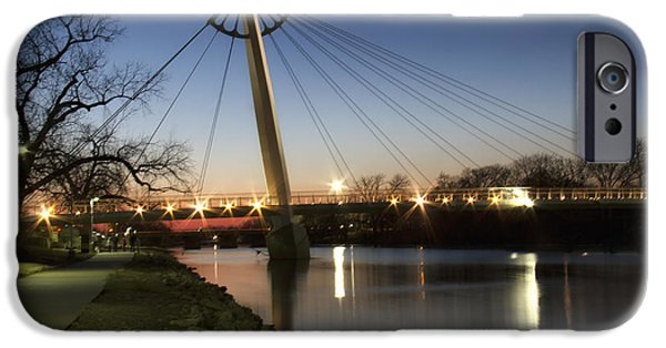 Arkansas iPhone Cases - Keeper of the Plains South Bridge iPhone Case by Debby Richards