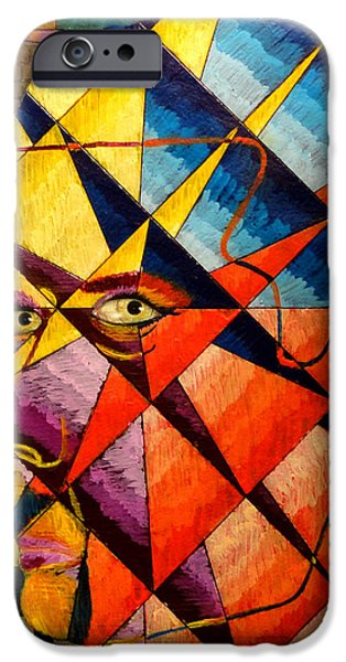 Prison Paintings iPhone Cases - Keeping Myself in Perspective iPhone Case by Joshua E Smith