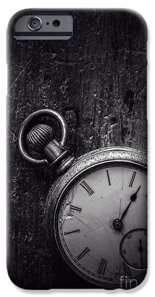 Fragment iPhone Cases - Keeping Time Black and White iPhone Case by Edward Fielding