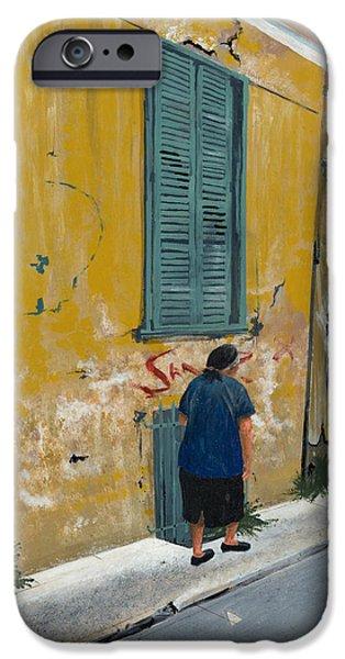 Greece iPhone Cases - Kefalonia Street iPhone Case by John Wyckoff