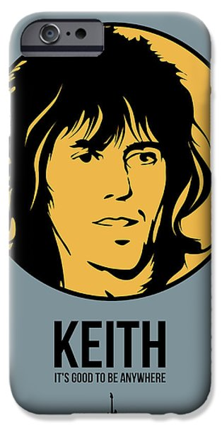 Keith Richards iPhone Cases - Keith Poster 1 iPhone Case by Naxart Studio