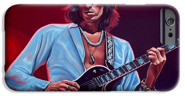 Head Stone iPhone Cases - Keith Richards 2 iPhone Case by Paul  Meijering