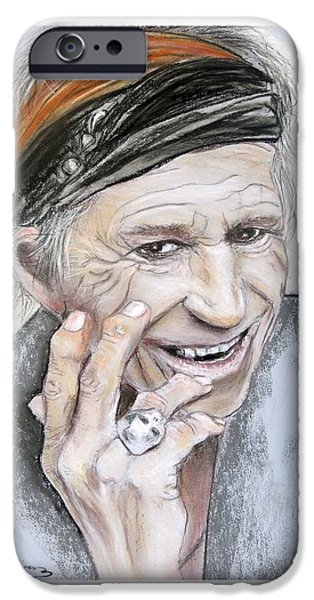Keith Richards iPhone Cases - Keith Richards 2013 iPhone Case by Ruth Jamieson
