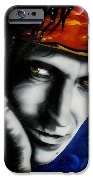 Keith Richards iPhone Cases - Keith Richards iPhone Case by Alicia Hayes