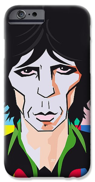 Keith Richards iPhone Cases - Keith Richards Guitar Hero iPhone Case by Neil Finnemore