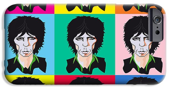 Keith Richards iPhone Cases - Keith Richards If Your Gonna iPhone Case by Neil Finnemore