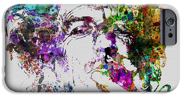 Celebrities Art iPhone Cases - Keith Richards iPhone Case by Naxart Studio