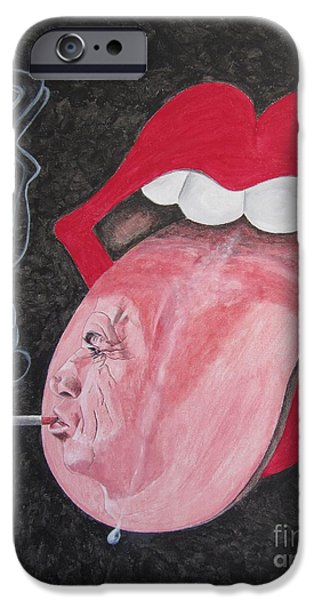 Mick Jagger Paintings iPhone Cases - Keith Richards iPhone Case by Jeepee Aero