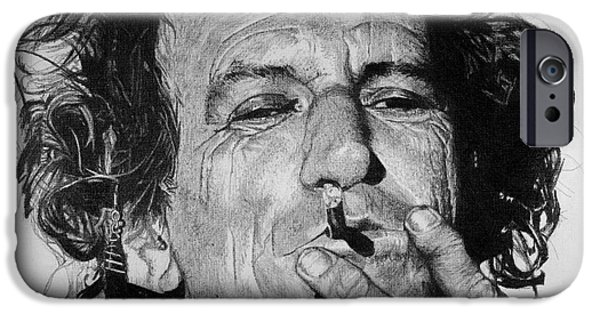 Keith Richards iPhone Cases - Keith Richards iPhone Case by Jeff Ridlen