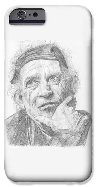 Keith Richards iPhone Cases - Keith Richards iPhone Case by Keith Miller