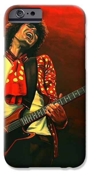 Keith Richards iPhone Case by Paul Meijering