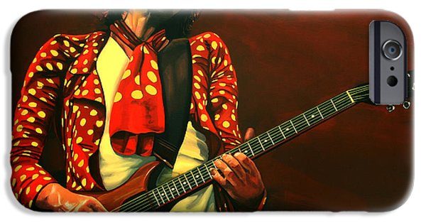 Head Stone iPhone Cases - Keith Richards iPhone Case by Paul Meijering