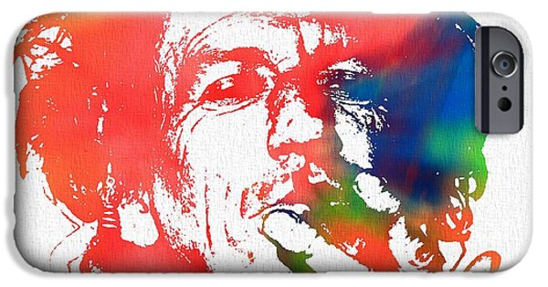 Keith Richards iPhone Cases - Keith Richards Pop Art iPhone Case by Dan Sproul